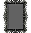 antique black frame vector image vector image