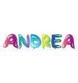 beautiful female name andrea text vector image vector image