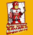 Captain Canada vector image vector image