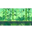 Cartoon nature seamless landscape with jungle vector image