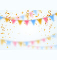 celebration background template golden confetti vector image