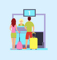 check in at the airport vector image vector image