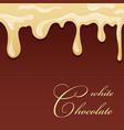 chocolate splash white chocolate design isolated vector image vector image
