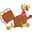 Christmas and thanksgiving turkey cartoon vector image vector image