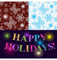 Christmas set of two seamless patterns vector image vector image