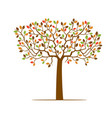 color tree with leafs vector image vector image