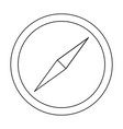 compass the black color icon vector image vector image