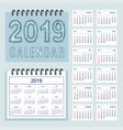 creative calendar with zen patterned number 2019 vector image