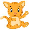 cute baby cat cartoon vector image