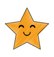 cute star cartoon vector image