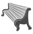 doodle of a bench in perspective color on white vector image vector image