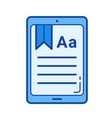 ebook line icon vector image