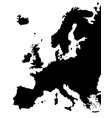europe map isolated on a white background vector image