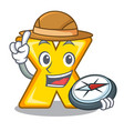 explorer cartoon multiply sign for calculate math vector image