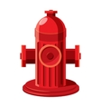 Fire hydrant icon in cartoon style