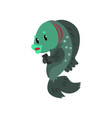 fish with smartphone cute animal cartoon vector image vector image