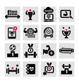 fitness and health icons set vector image vector image