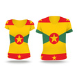 Flag shirt design of Grenada vector image vector image