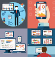Flat design modern icons set of website SEO vector image