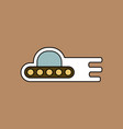 flat icon design collection flying saucer icon vector image vector image
