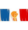 france flag independence painted brush stroke vector image
