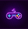 game controller neon sign vector image vector image