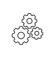 gear icon in flat style cog wheel on white vector image