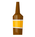 glass beer bottle cartoon vector image vector image