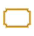 Gold frame Beautiful simple golden vector image vector image