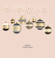gold metal bauble ornament vector image