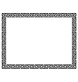 Greek style black ornamental decorative frame vector image vector image
