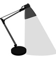 Grey table lamp vector image