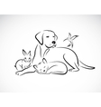 group pets vector image vector image