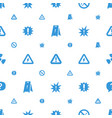 hazard icons pattern seamless white background vector image vector image