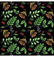 high quality original semless pattern with leaves vector image vector image