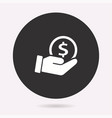 investments money - icon vector image vector image