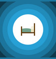 isolated bearings flat icon bed element vector image