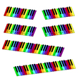 isometric colorful piano keyboard set vector image vector image