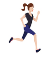 jogging woman vector image