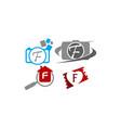logotype f modern template set vector image vector image