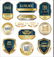 luxury retro badge and labels collection 3 vector image vector image