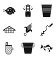 male rest icons set simple style vector image vector image