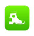 men boot icon digital green vector image vector image