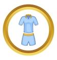 Men tennis uniforms icon vector image vector image