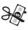 money for tax icon simple style vector image