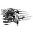 monochromatic ram goat logo icon design vector image