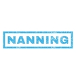 Nanning Rubber Stamp vector image vector image