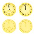 new year clocks vector image
