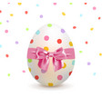 painted easter egg and colorful confetti vector image