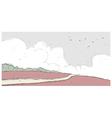 park landscape vector image vector image